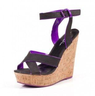 Black lined in purple!