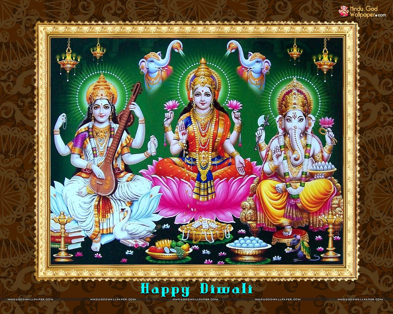 Laxmi Ganesh Saraswati Wallpaper Download Ganesh Wallpaper Wallpaper Downloads Lord Vishnu Wallpapers