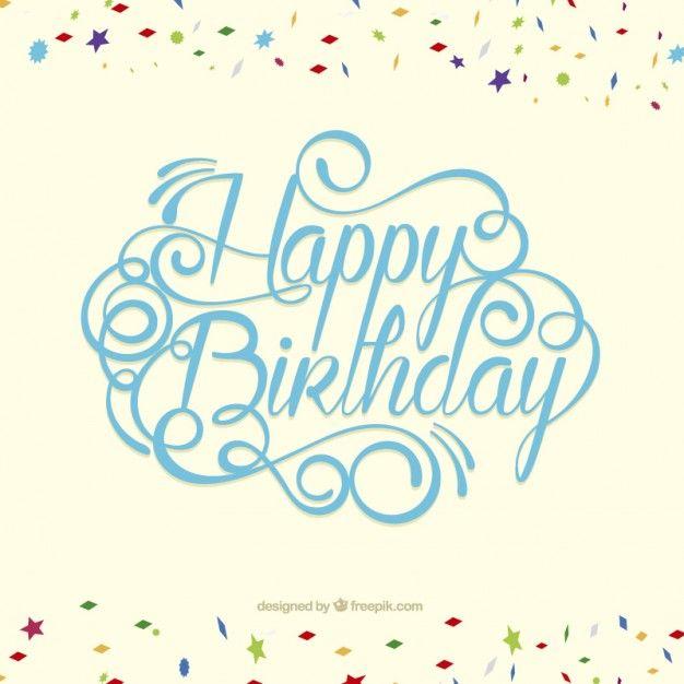 Tarjeta del feliz cumpleaños en estilo de letras Vector Gratis