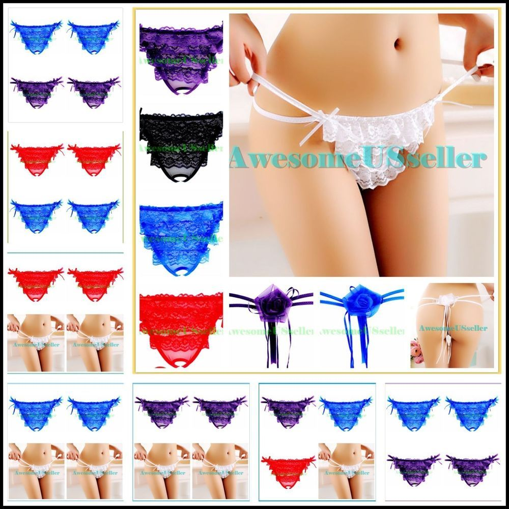 49a58f791 Lot 4 XS-XL Women Sleepwear Open Ass G-string Underwear Underpant Panty Lace-482   Daisland  OpenAssOpenCrotchCrotchless