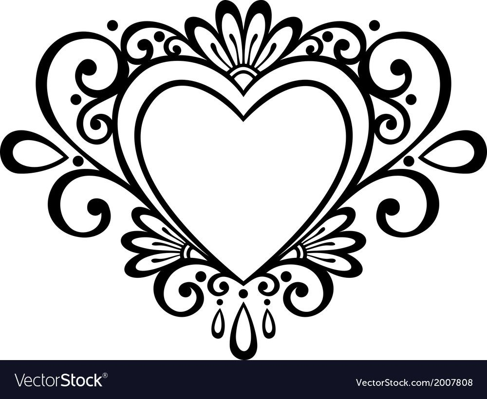 40++ Heart clipart black and white vector ideas in 2021