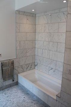Bathroom Marble, Prospect Parks, 107 Prospect, Bathroom 12X24, 12 X 24 Tile Shower, Shower Tile, Parks West, Shower 12X24 Tile, Modern Bathrooms