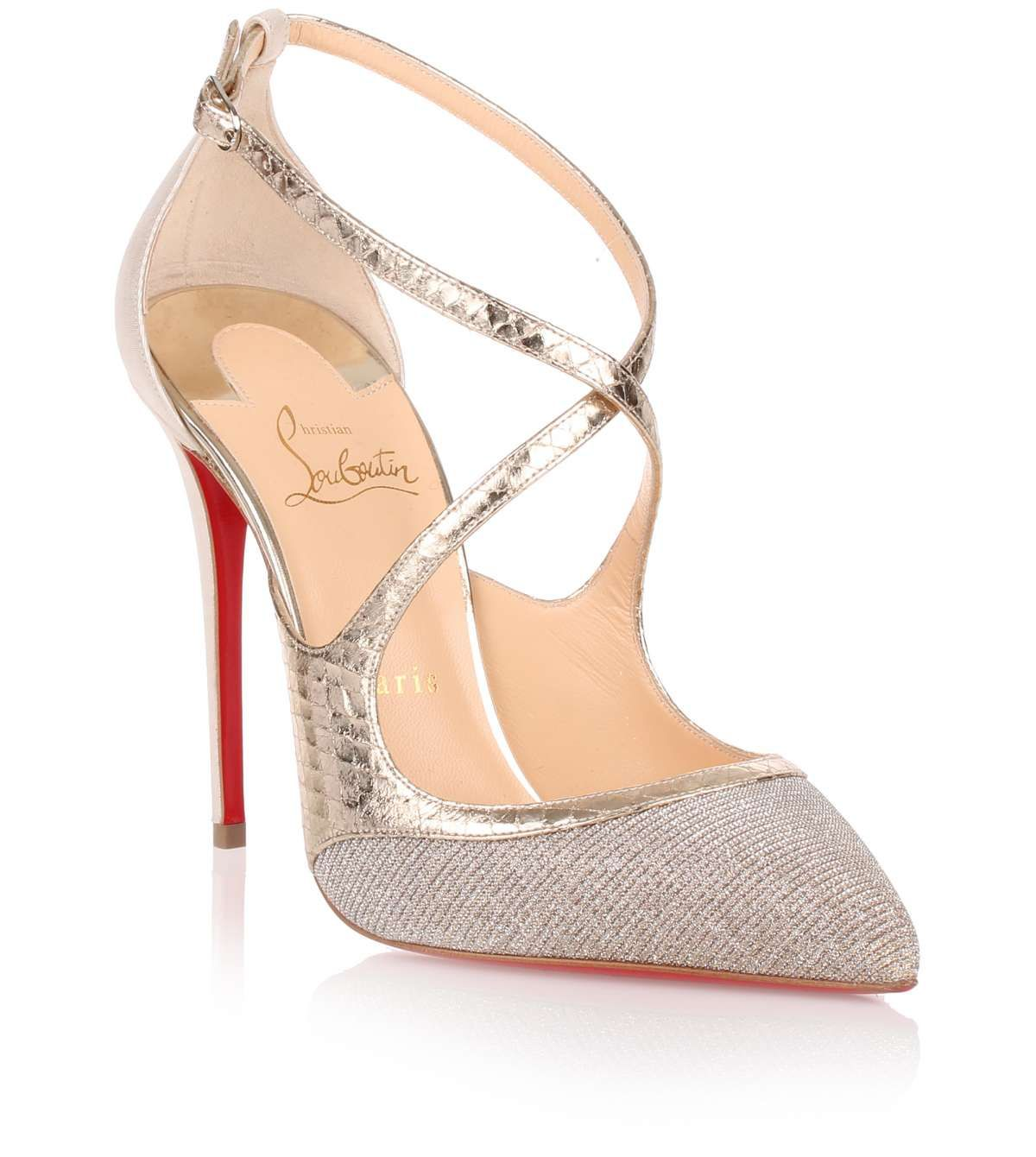 huge selection of 515cb 5415f Crissos 100 silver glitter pump | Beige, nude, grey&white ...