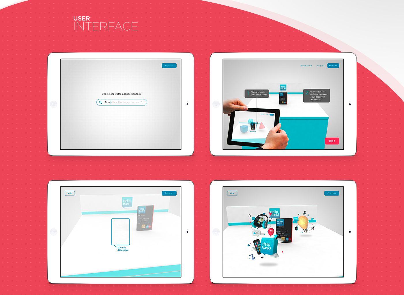 Hello Bank Retail Ar On Behance Retail User Interface Hello