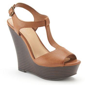 3e16984cd81 Candie s® Women s T-Strap Platform Wedge Sandals