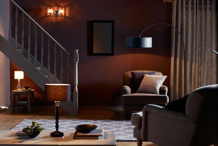 Indirektes Licht Ikea Beleuchtung Decke Dunkeles Interior Lichtstimmung  Wohnzimmer