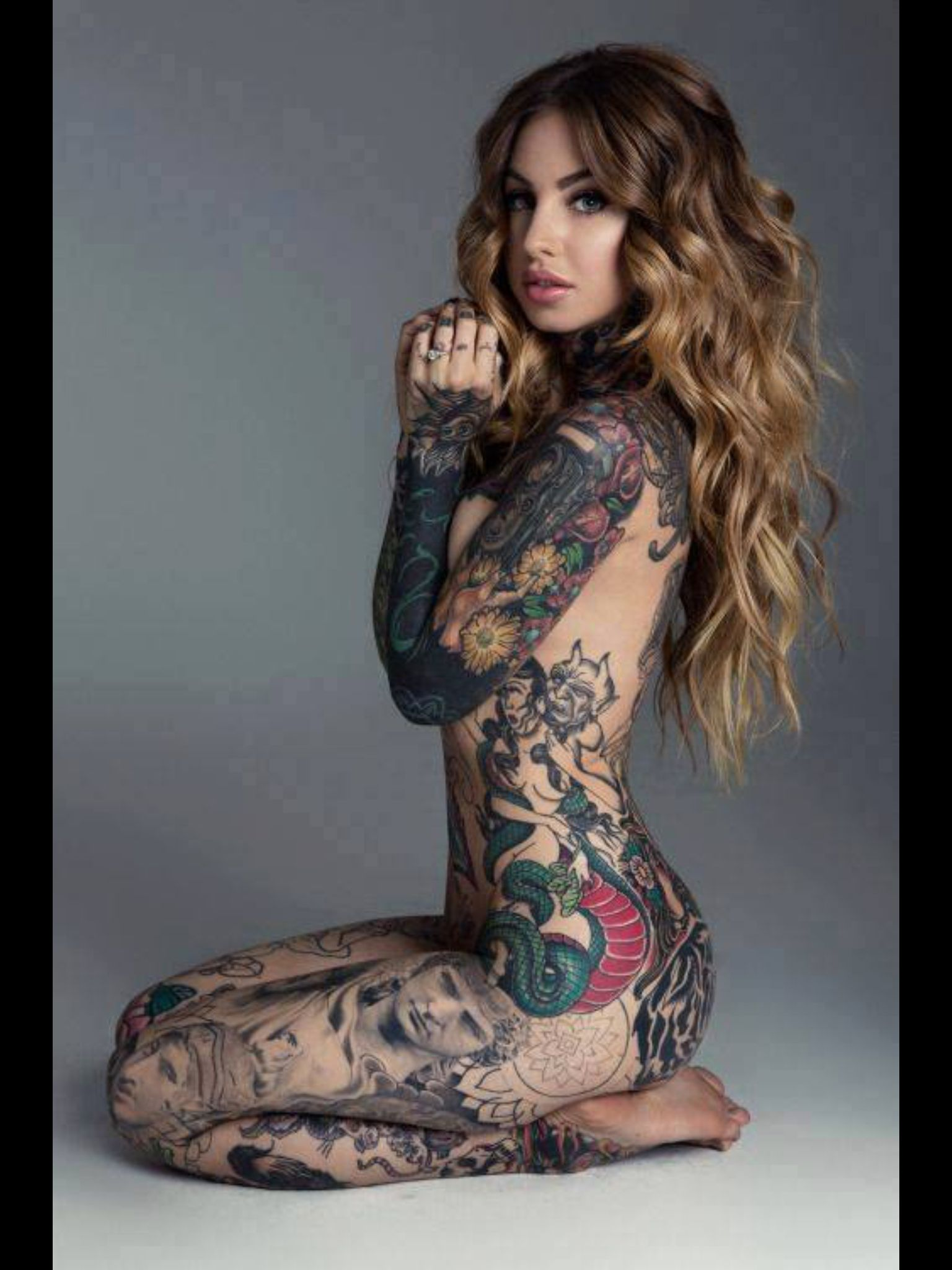 women body Sexy with tattoos full