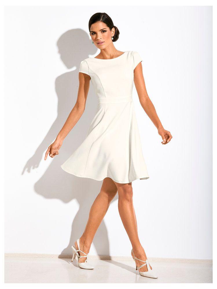 robe pliss e manches courtes mariage robe de et robes courtes. Black Bedroom Furniture Sets. Home Design Ideas