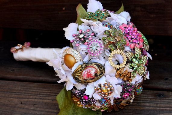 Vintage Wedding brooch Bridal bouquet by Rusticcreek on Etsy, $75.00