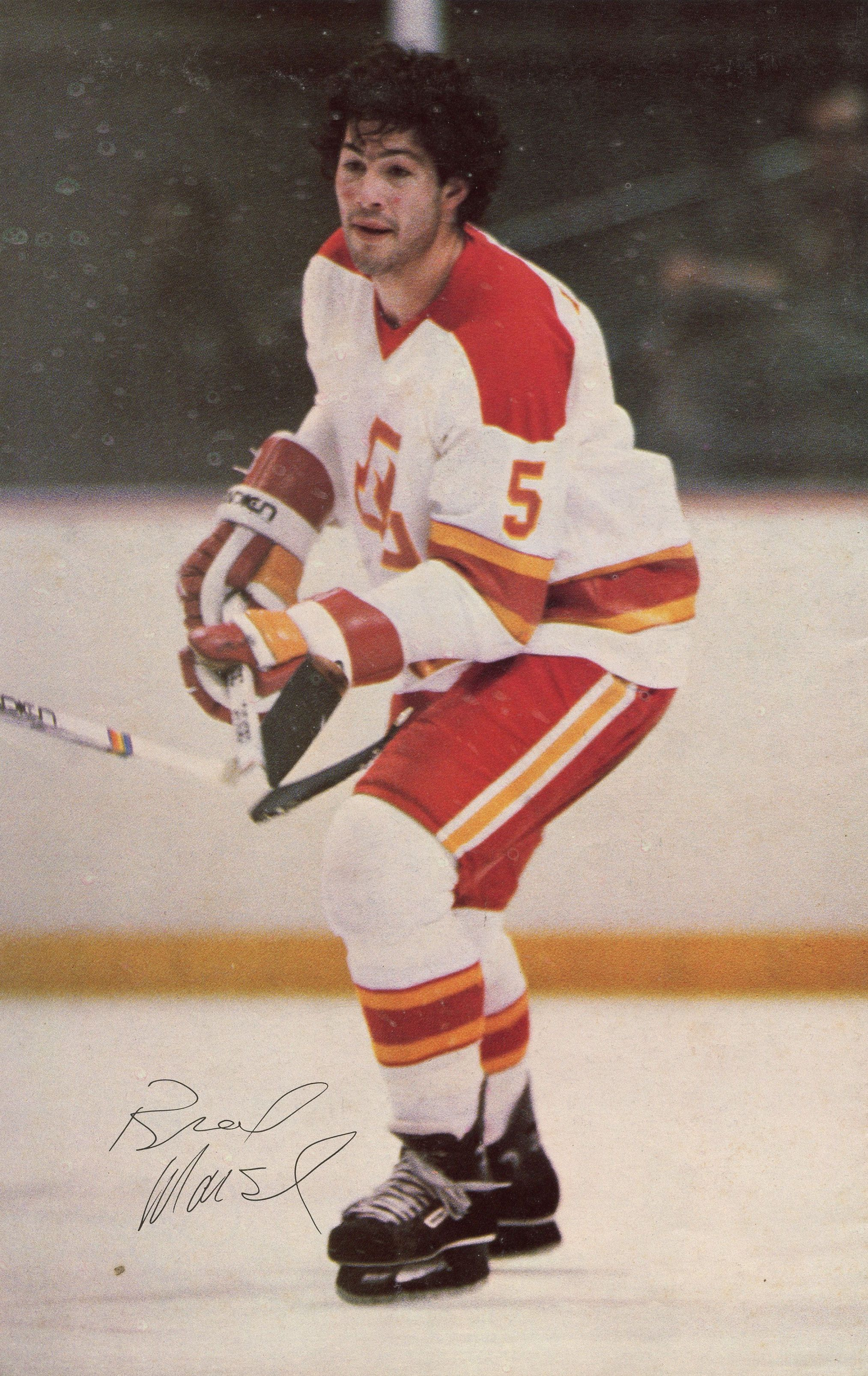 Brad Marsh! One of the last players to skate without a