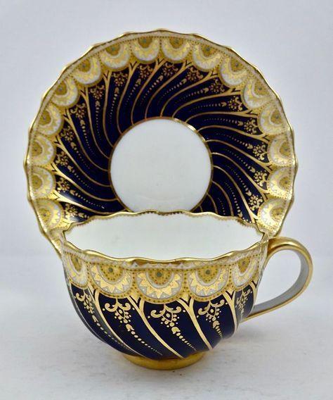Elegant Antique Spode Copeland Jeweled Tea Cup & Saucer #teacups