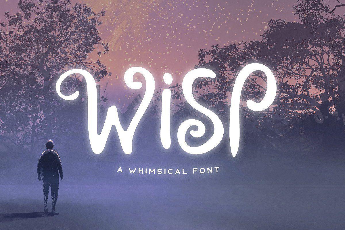 Wisp Typeface Typeface, Whimsical fonts, Font bundles