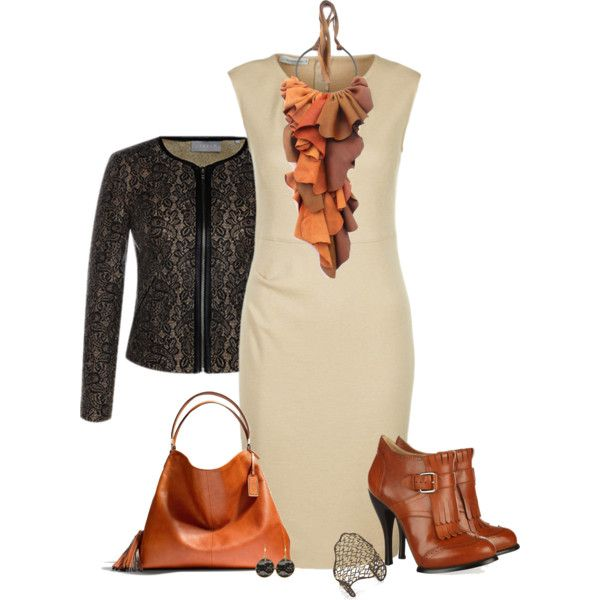 Leather and lace, created by mommygerloff on Polyvore
