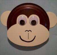 April 30 - Monkey craft from a paper plate paper u0026 wiggle eyes  sc 1 st  Pinterest : safari paper plates - pezcame.com
