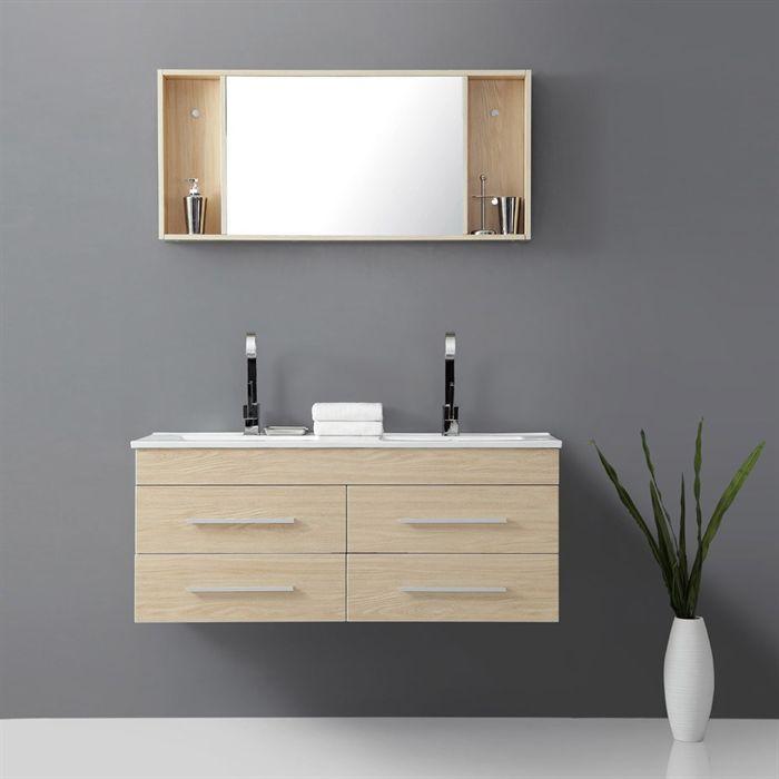 LEA Salle de bain complète Beige - Achat   Vente ENSEMBLE MEUBLES DE - salle de bains beige