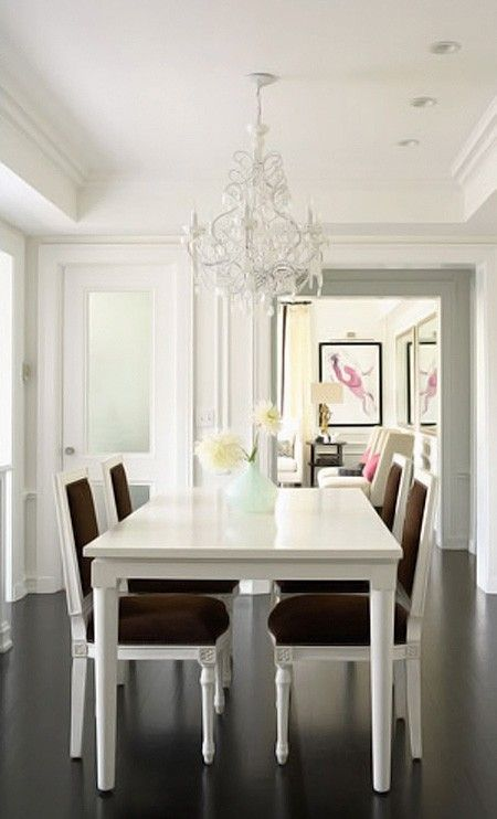 Bright Contemporary Dining Room  Dining In Style  Pinterest Adorable White Contemporary Dining Room Sets 2018