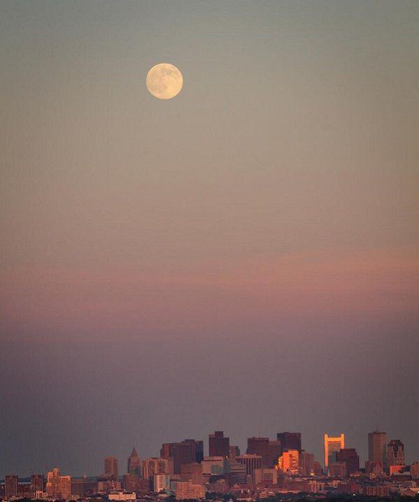 #Supermoon over Boston