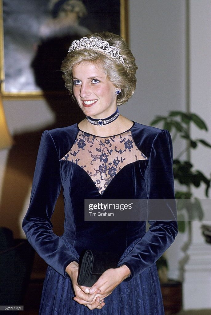 Princess Diana In Melbourne Attending A State Dinner At