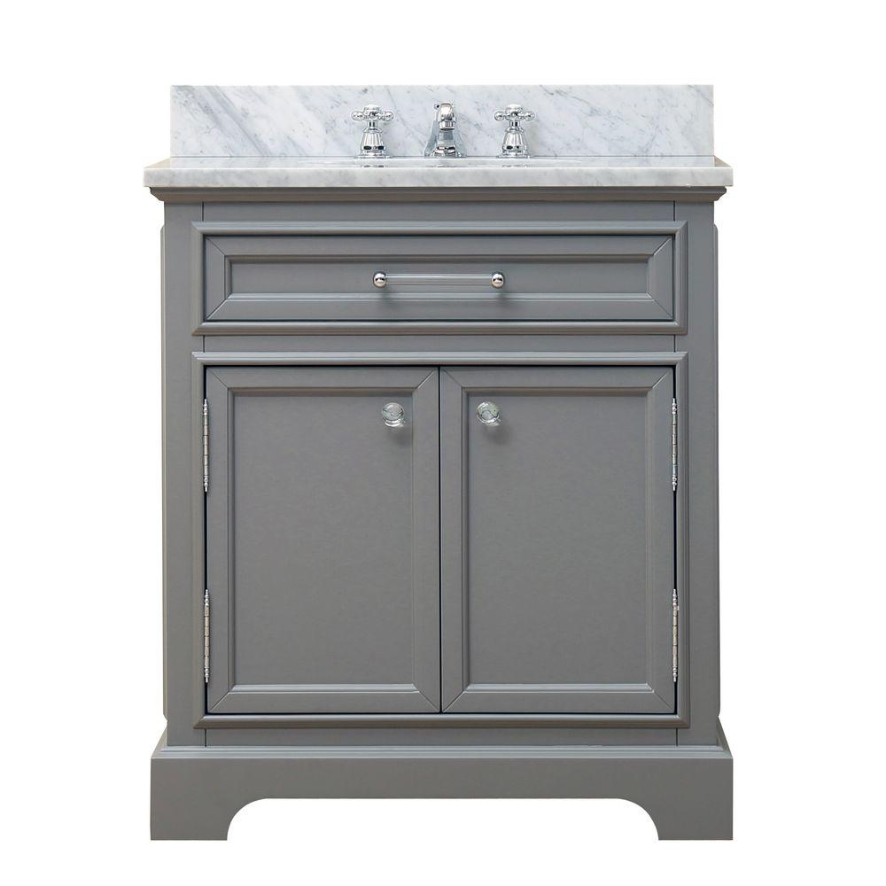 Water Creation 30 In W X 21 5 In D Vanity In Cashmere Grey With