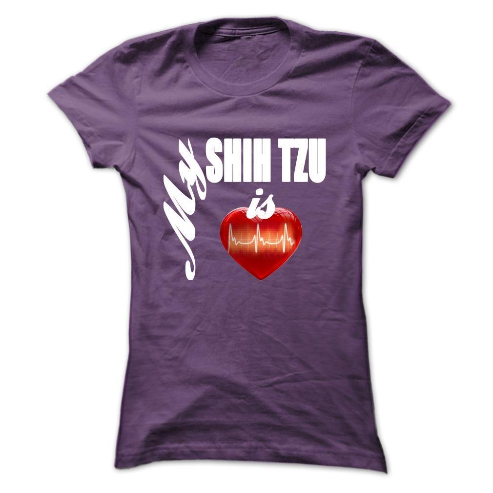 My Shih Tzu is my heart T-Shirts, Hoodies. ADD TO CART ==► Funny Tee Shirts