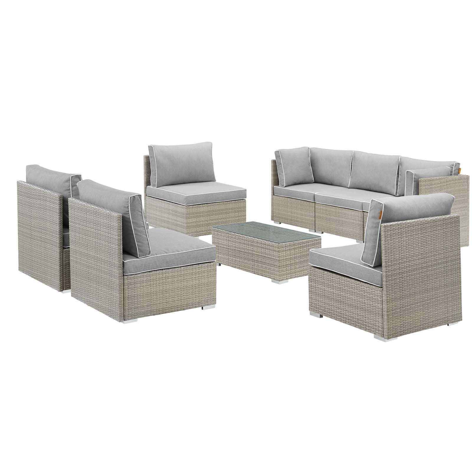 Best Modway Repose 8 Piece Outdoor Patio Sectional Set 400 x 300
