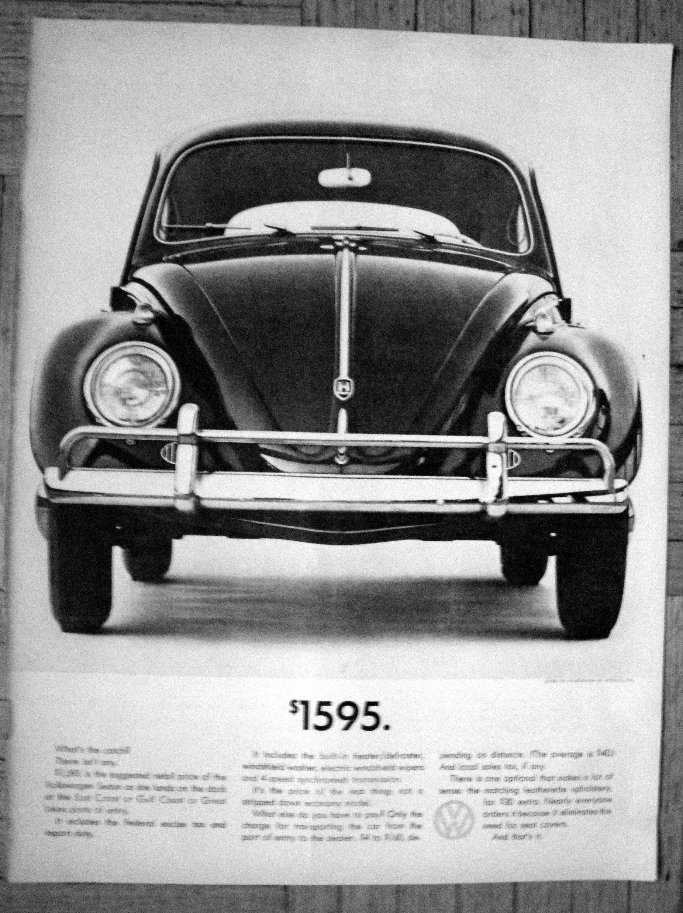 1961 Vw Beetle Bug Cost 1595 What S The Catch Volkswagen Etsy