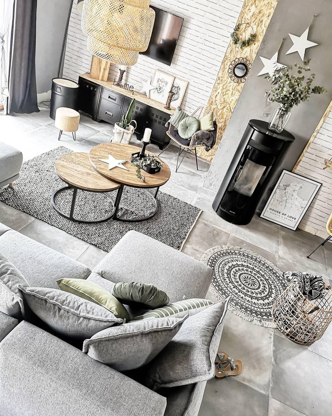Canapé panoramique Lena gris Bobochic #saloncocooning