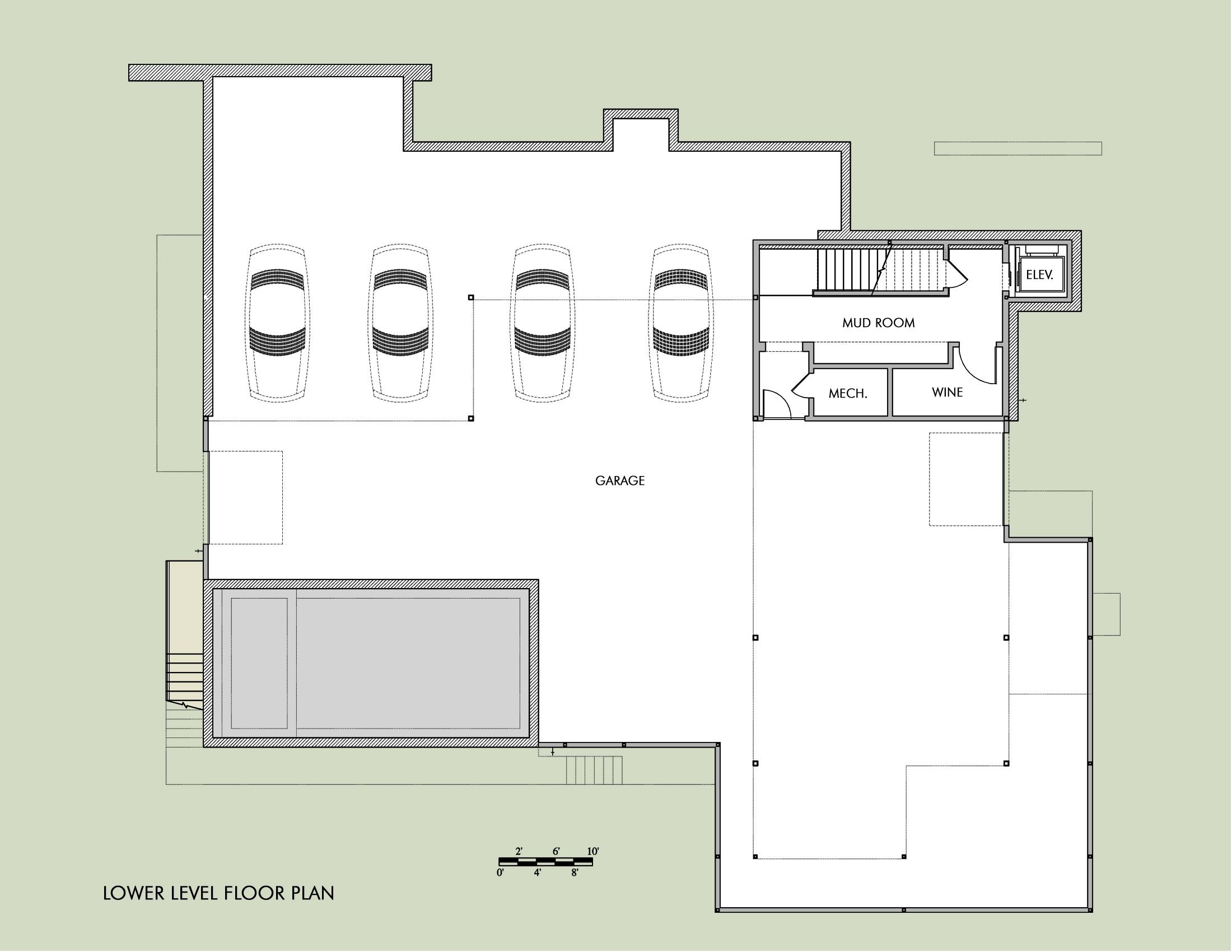 Hill Country Residence By Cornerstone Architects Basement Garage House Floor Plans Residences Architect