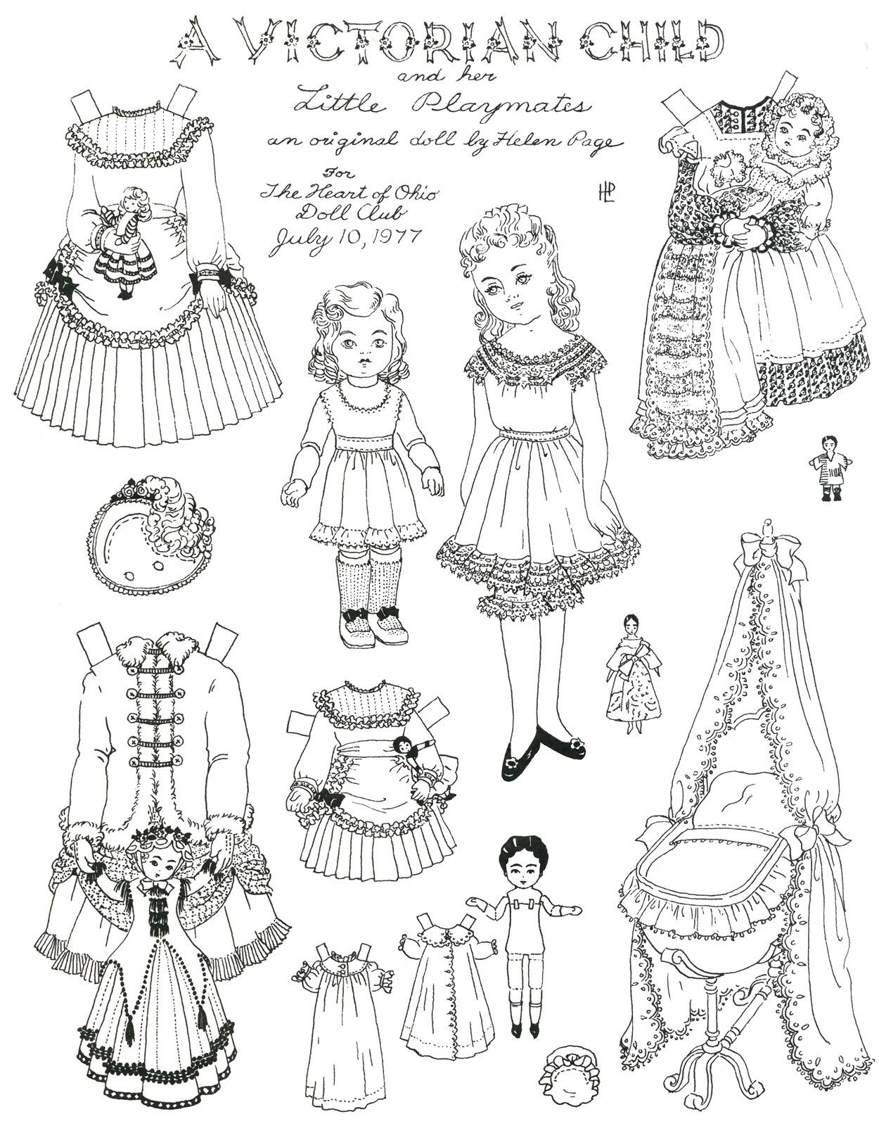 Paper Dress Up Dolls Template Best Of Victorian Paper