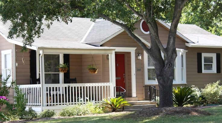 Front Door Color For Tan Colored House With Black Shutters Red