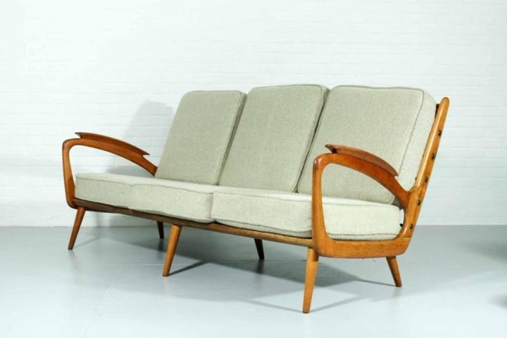 Wonderlijk Vintage retro lounge bank sofa jaren 50 60 zoals Pastoe   Vintage XW-03
