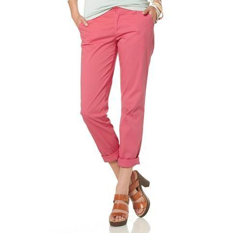 50fdc569d2300 Pantalon chino stretch femme AJC - Rose- Vue 1   La vie en rose ...