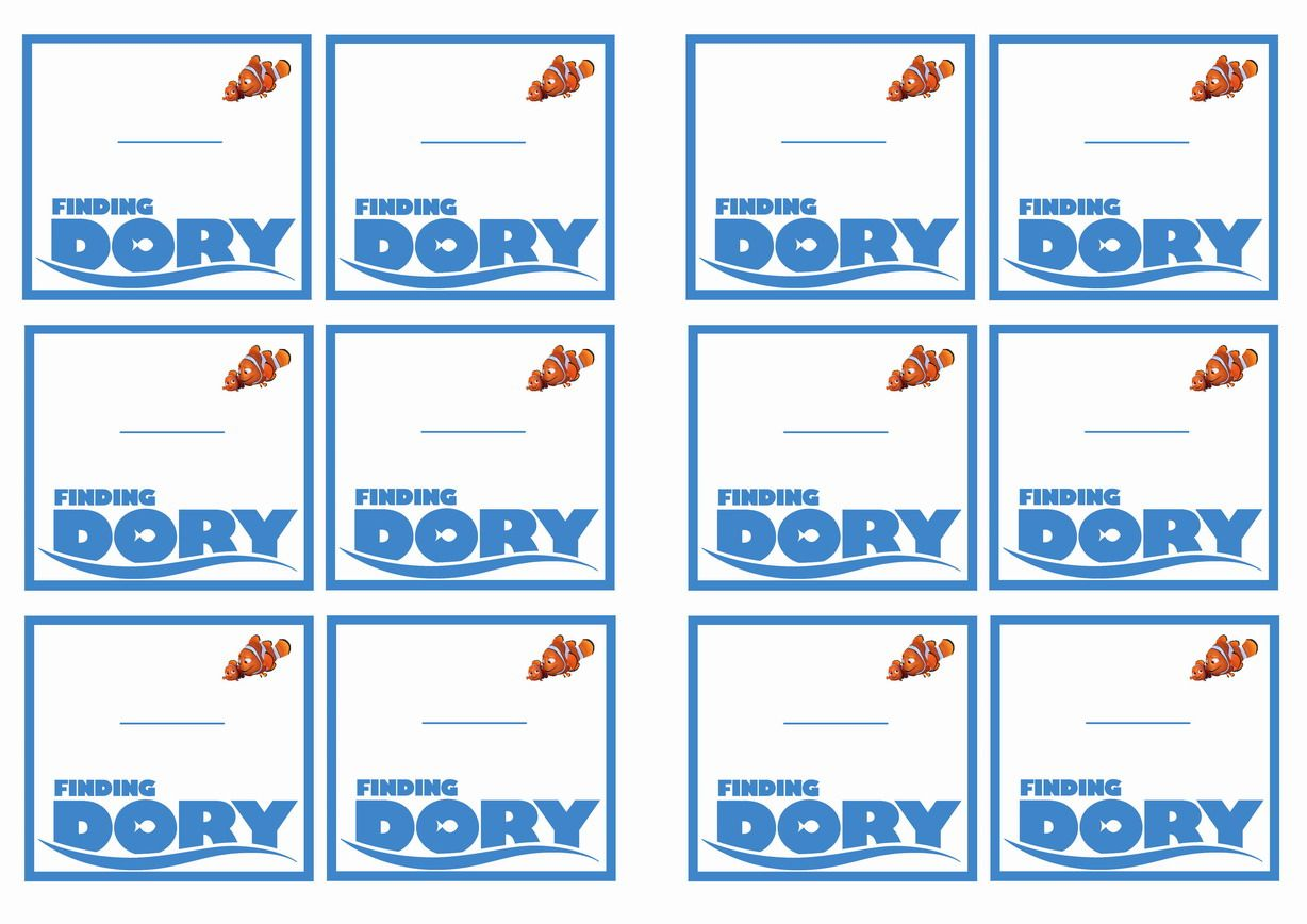 Finding Dory Name Tags Themed Name Tags