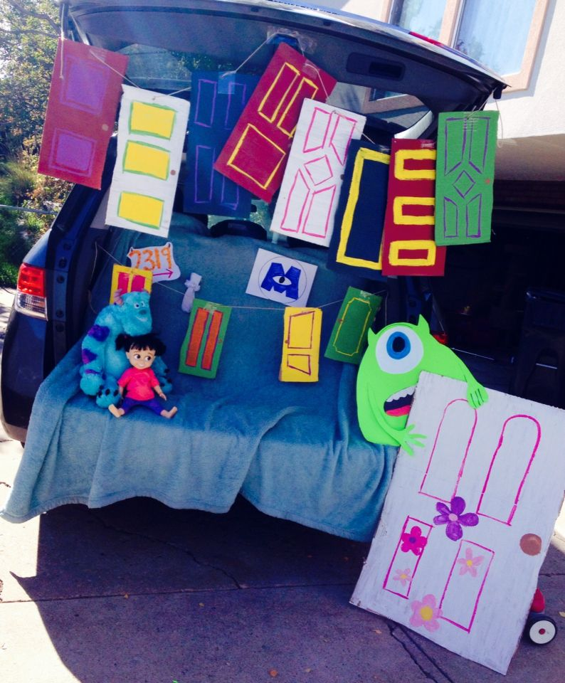 Trunk or Treat idea Monsters Inc! trunk or treat Pinterest - trunk halloween decorating ideas