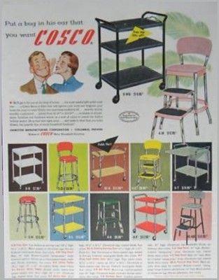 Kche Print Anzeigen Mbel Bereit Home Touren Vintage Kche Vintage Anzeigen  Mbel Utility Cart Vintage.