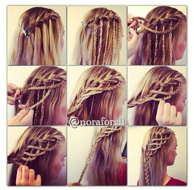 Waterfall - French Braid | Hair & Beauty | Pinterest | Cool braids ...