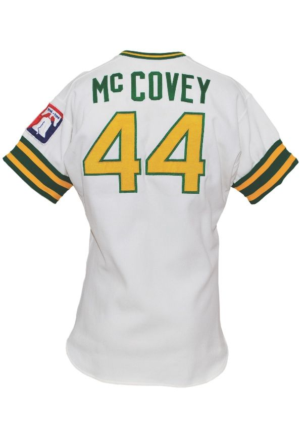 wholesale dealer ea023 16867 1976 Willie McCovey Oakland A's Game-Used Home Jersey ...