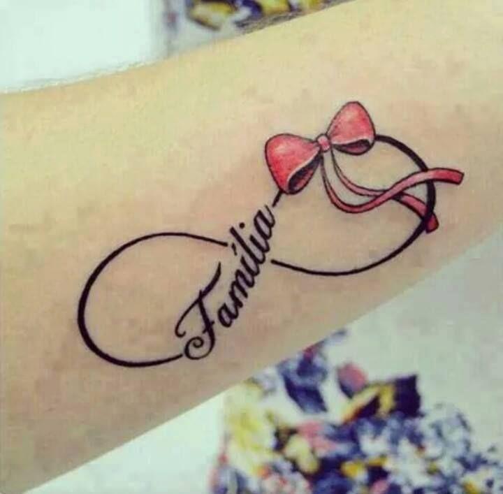 Infinito Lazo Frase Familia Tatuaje De Infinito Con Nombres