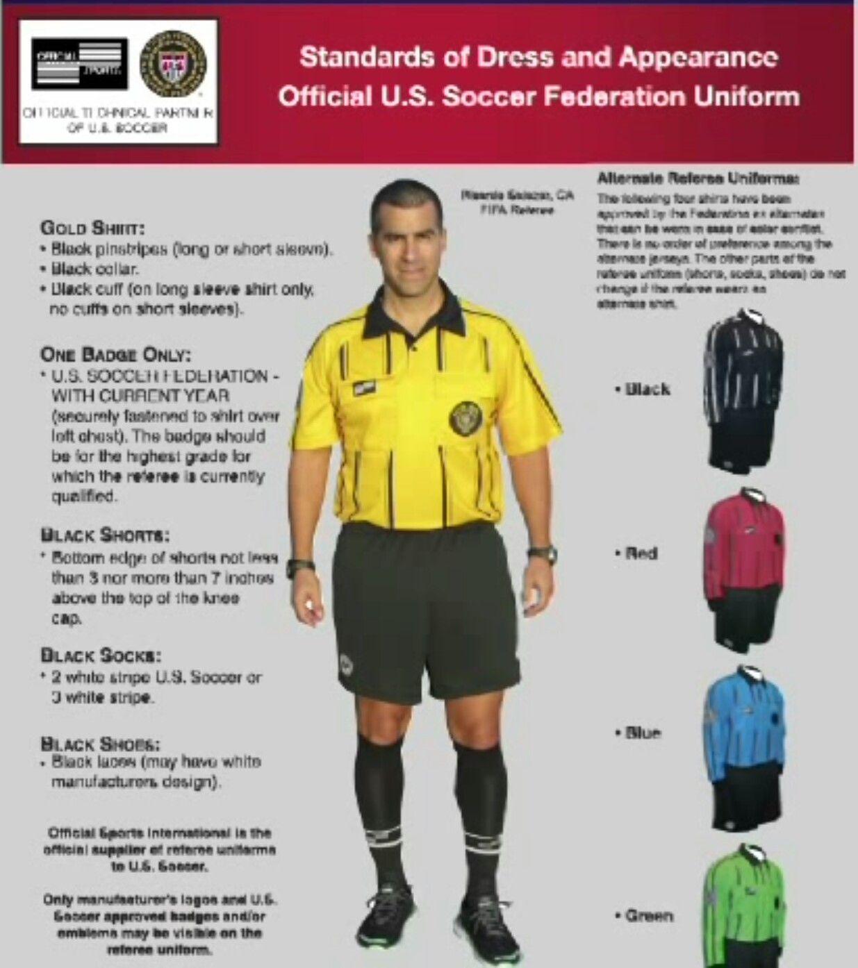 Old Ussf Referee Uniform Referee Uniforms Soccer Referee Soccer