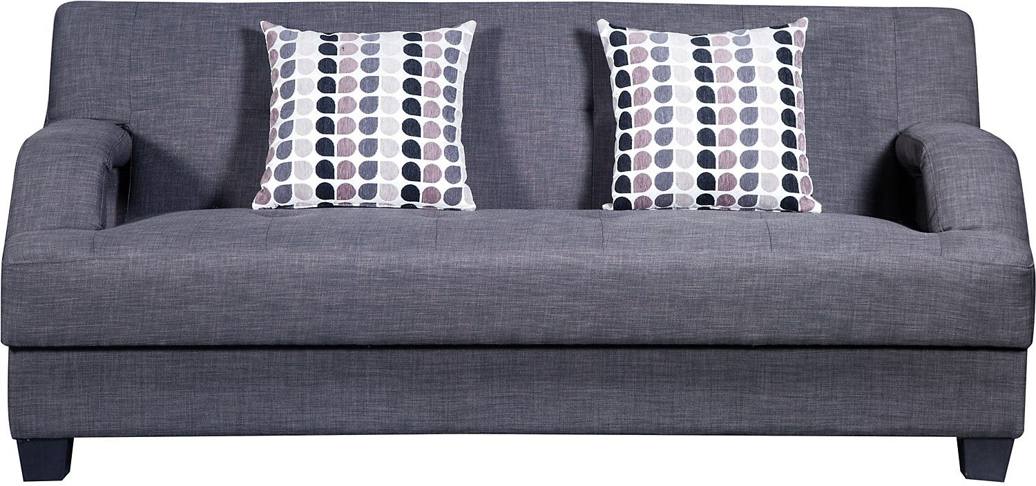 Vogue Futon Charcoal United Furniture Warehouse homie