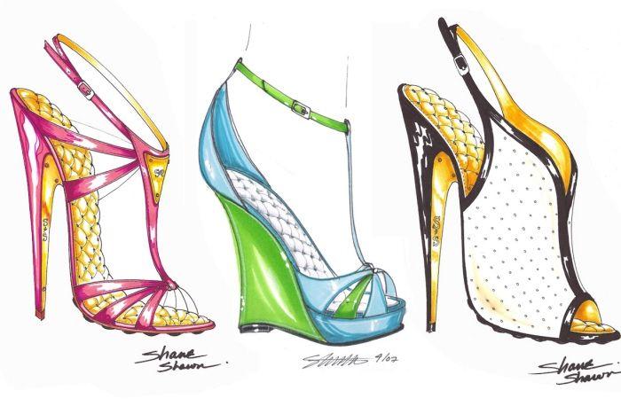 Fashion illustration shoes, Shoe