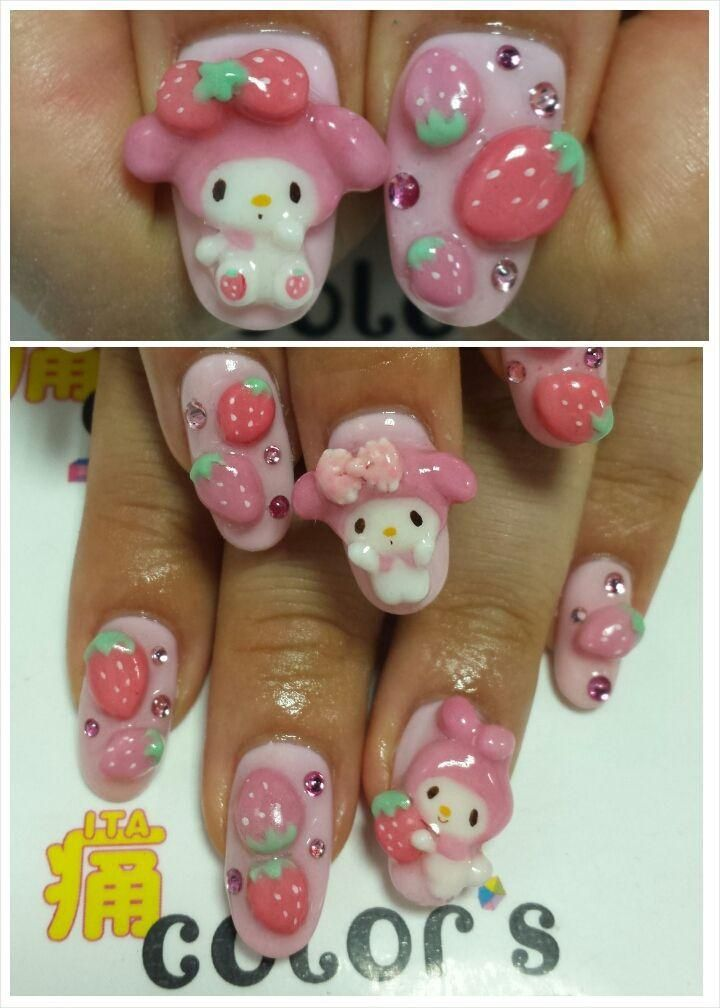 My melody nail art