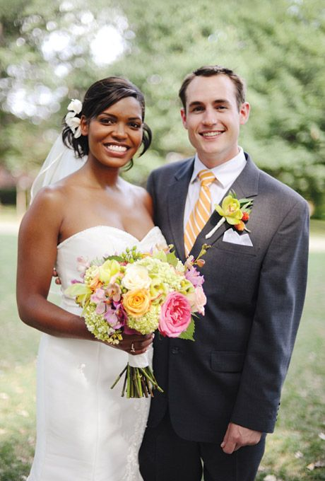 Monesha and Jonathan met as students at the University of Maryland. Click through to get the rest of the story! Photo by Kate Headley.