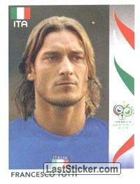 Sticker 338 Francesco Totti Panini Fifa World Cup Germany 2006 World Cup European Soccer Players Fifa