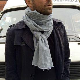 Papatuch Bio-Baumwolle handgefärbt Hellgrau