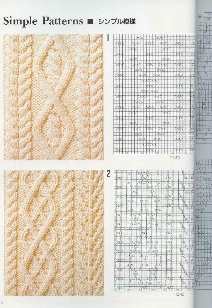 SOLO PUNTOS: Trenzas, puntos cruzados tricot   stitchwork ...