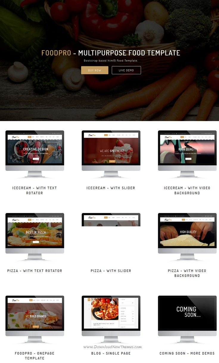 Foodpro Is Clean And Modern Design Multipurpose Bootstrap Template