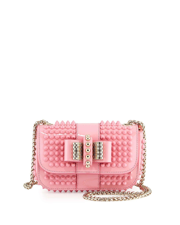 2c22c0fd7b2 Sweet Charity Small Spiked Crossbody Bag Light Pink | Handbag Haven ...