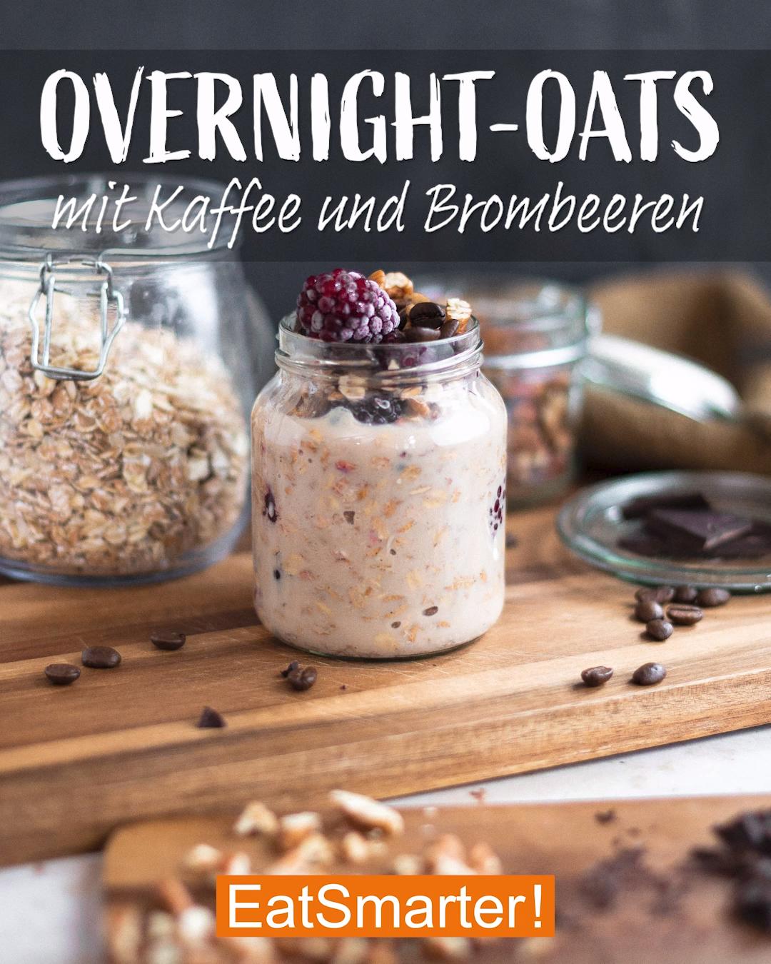 Overnight-Oats mit Kaffee und Brombeeren   EAT SMARTER