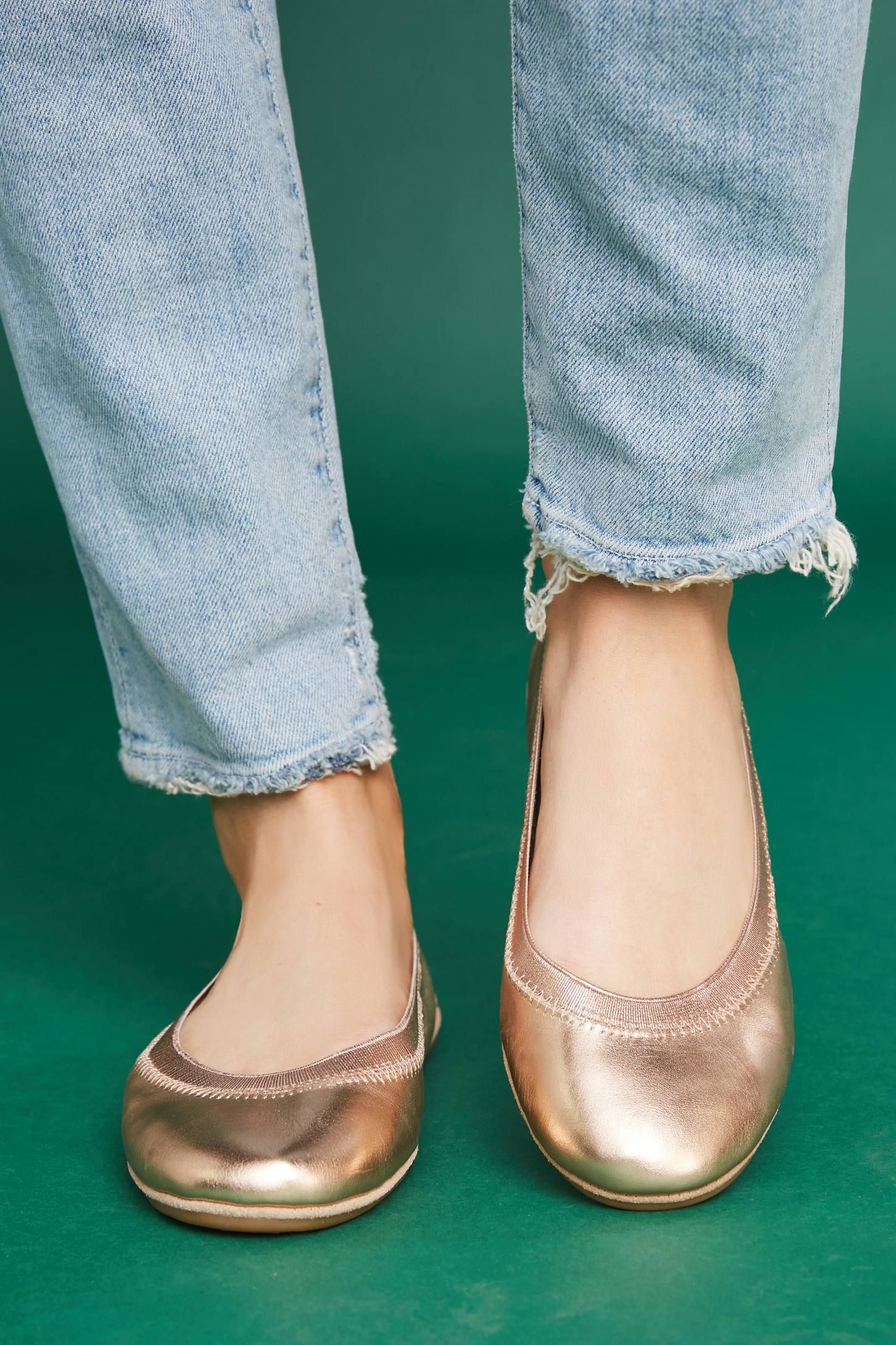 d27ac020496 Shop the Yosi Samra Rose Gold Ballet Flats and more Anthropologie at Anthropologie  today. Read customer reviews
